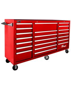 Homak Mfg. 72 in. H2Pro Series 21 Drawer Rolling Cabinet, Red