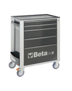 Mobile Roller Cab 5 Draw, Grey