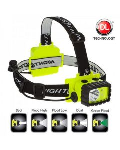 Bayco Nightstick LED Headl Amp with White and Green LED's w/ Hi-viz Green Base