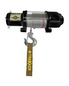 """Winch, 12 Volt, 4000 lb Single Line Rated Pull, Power In and Out, Hand Held Remote, 55' x 7/32"""" Wire"""