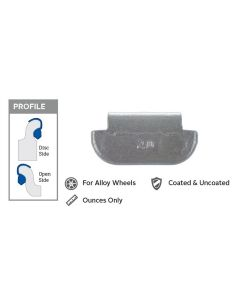 2.0 oz. Coated Truck Wheel Weight (Box of 25)