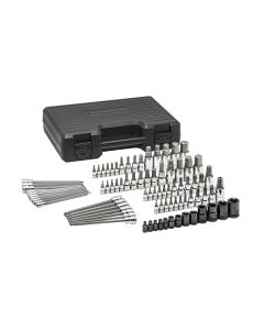 "GearWrench Standard & Long Hex/Ball End Hex/Tamper Proof Torx/E-Torx/Torx 1/4"", 3/8"" & 1/2"" Drive SAE/Metric Bit Socket 84-Piece Set"