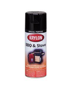 Krylon 12 oz. BBQ & Stove Black Aerosol Black Paint