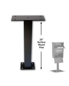 Inground Post for Key Drop Box, Black