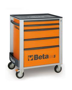 Mobile Roller Cab 5 Draw, Orange