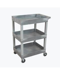 24 x 18 Plastic Utility Three Shelf Tub Cart