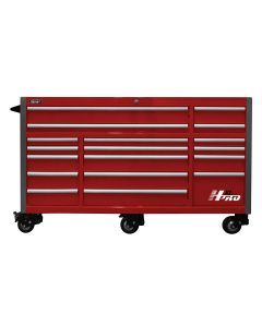 Homak Mfg. 72 in. HXL 17-Drawer Roller Cabinet, Red