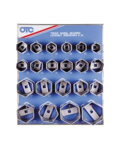 21PC Bearing Locknut Socket Display