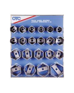 21PC Bearing Locknut Socket Display