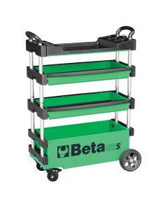 Beta Tools Folding Tool Trolley, Extreme Green