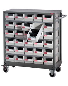 PART CABINET STEEL MOBILE - 30 DRAWERS