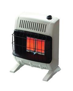 Vent-Free Infrared Radiant Gas Heater, 10K BTU, LP