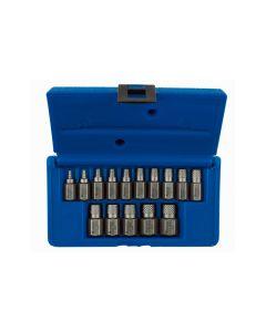 15 Piece Hex Head  Multi Spline Extractor Set