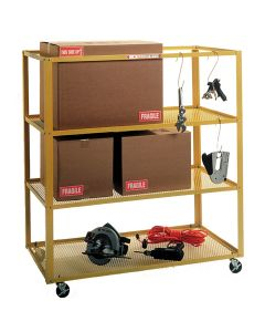 Deluxe Mobile 3-Shelf Parts Cart