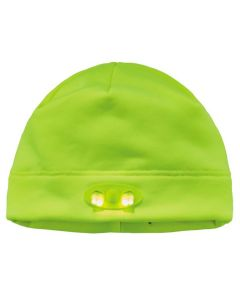 6804 Lime Skull Cap Beanie Hat with LED Lights