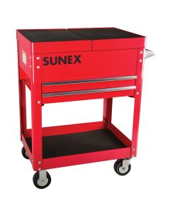 Sunex Tools Compact Slide Top Utility Cart, Red