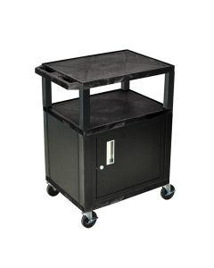 "34"" 3-Shelf Audio-Video Utility Cabinet"