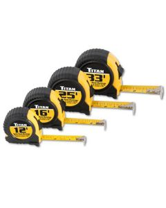 Tape Measure Set, Quick Read, Cushioned, 4 Piece, Contains 12', 16', 25' And 33' Tapes