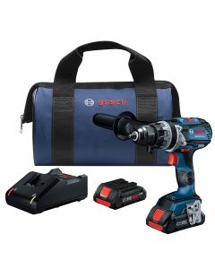 18V Brushless Brute Tough Hammer Drill Driver, Connected Ready w/ (2) 4.0 Ah CORE Compact Batteries