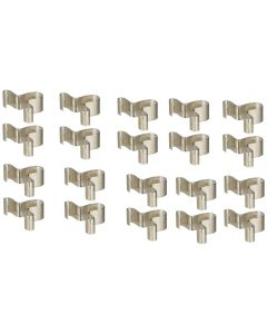 20 Pack 1/4 in. Replacement Clips