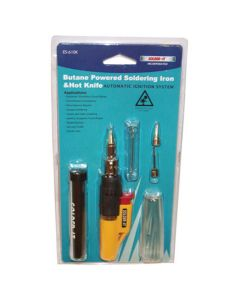 Multi-Function Butane Heat Tool Kit, Hot Knife or Soldering Iron, with Tips and Wrench