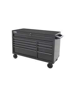 "Black Tool Cabinet ProSeries 54"" Rolling 10-Drawer"