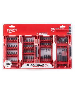 Milwaukee 74PC SHOCKWAVE Impact Duty Driver Bit Set