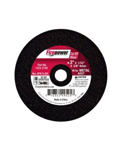 Type 1 Cut Off Abrasive Wheels, 3 x 1/32 x 3/8
