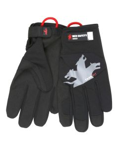 MCR Safety Mechanics Gloves, TaskFit Design Synthetic leather palm, Nylon / Spandex back Adjustable Wrist Closure Touch Screen friendly