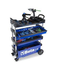 Folding Mobile Tool Cart, Blue