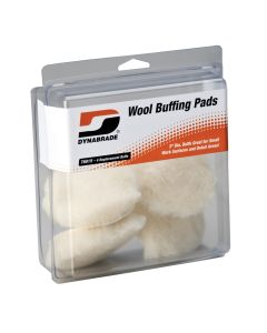 Dynabrade Products 3 in. Synthetic Wool Buffing Pads (Pack of 4)