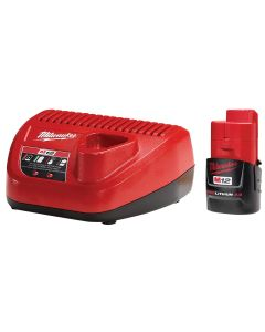 Milwaukee M12 2.0 Battery and Charger Starter