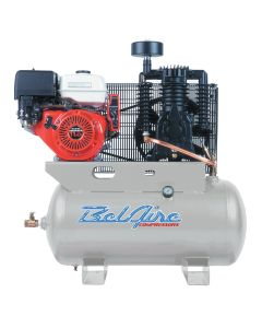 11 HP 30 Gallon Horizontal Two Stage Gas Driven Air Compressor