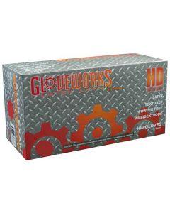 L Gloveworks HD P/F Textured Latex Gloves - Case