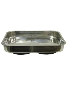 11 in. x 11 in. Stainless Steel Magnetic Parts Tray