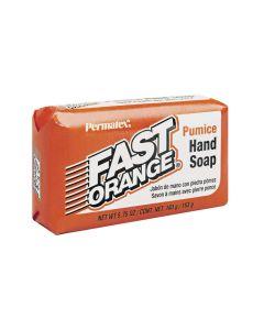 Fast Orange Hand Cleaner Soap Bars, with Fine Pumice, 5.75 oz, Single Bar