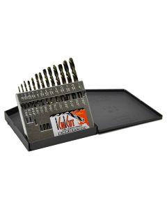 """KnKut 13 Piece Left Hand Jobber Length Drill Bit Set 1/16""""-1/4"""" by 64ths"""