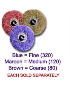 "2"" Bear-Tex Surface Blending Discs, Medium 120 Grit (5 Pack)"