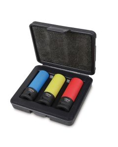 """Set Of 3 1/2"""" Drive  Impact Sockets for Wheel Nuts"""