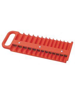 """1/4"""" Drive Red Magnetic Socket Holder for 26 Sockets"""