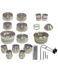 19-pc Brake Lathe 1 Silver Adapter Set