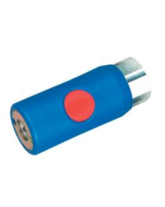 "COUPLER RED BUTTON 1/4"" FEM USE W/MIL783 PLUG"