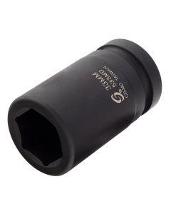 "1"" Drive Deep 6PT Impact Socket, 33mm"