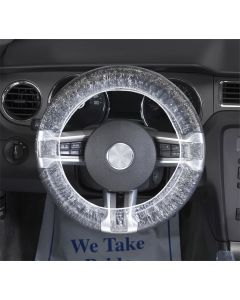 "Steering Wheel Covers, 24"" Clear Plastic (500 pk.)"