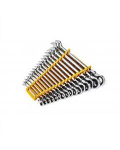 16Pc 12PT Metric Flex Combi Ratchet Wrench Set