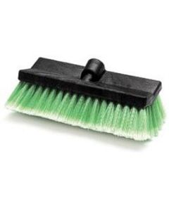 """Wash Brush Head Only, 10"""" Wide Bi-Level Block with Threaded Hole, Soft Flagged Polyester Bristles"""