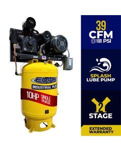 Compressor 10 HP 2 Stg 1 Ph Vert 120 Gal