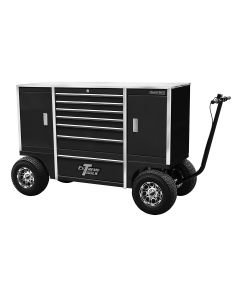 70 in. 7-Drawer/2 Compartment Pit Box, Black