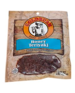 GOLDRUSH Honey Teriyaki 2.85 oz. Goldrush Beef Jerky (12-Count Case)