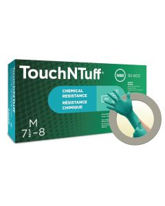 TouchNTuff 92-600 Nitrile Gloves - Disposable, Chemical Splash Resist, Size Medium (Pack of 100)